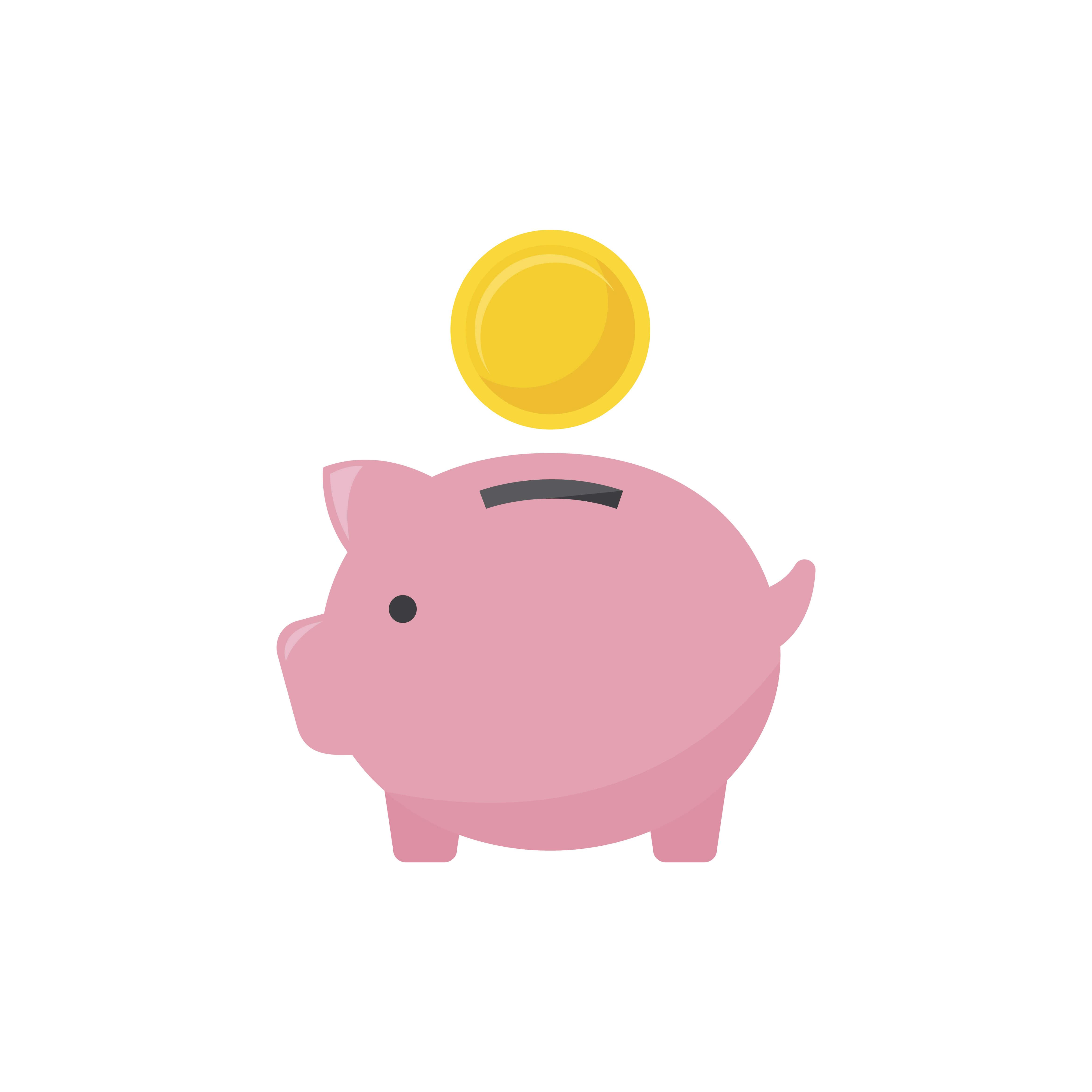 tirelire cochon pour montrer les avantages fiscaux de l'achat d'oeuvre d'art