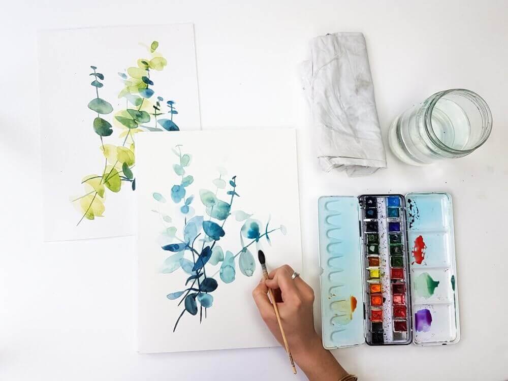 peinture aquarelle images de fleurs