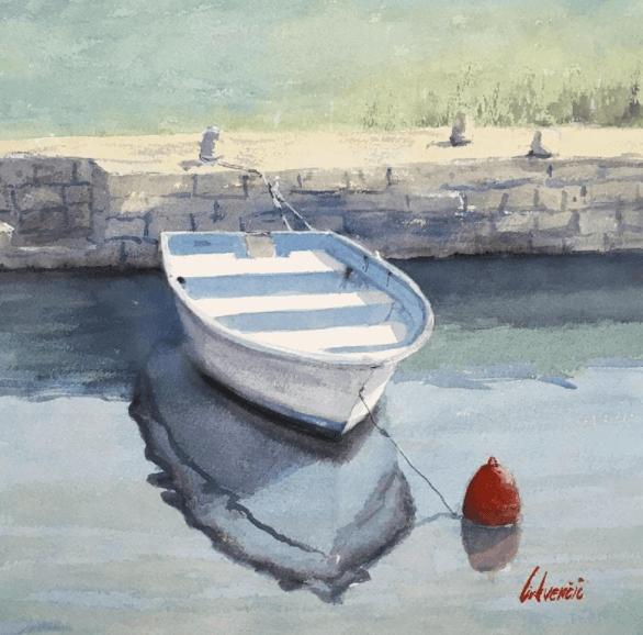 peinture marine image d'un bateau