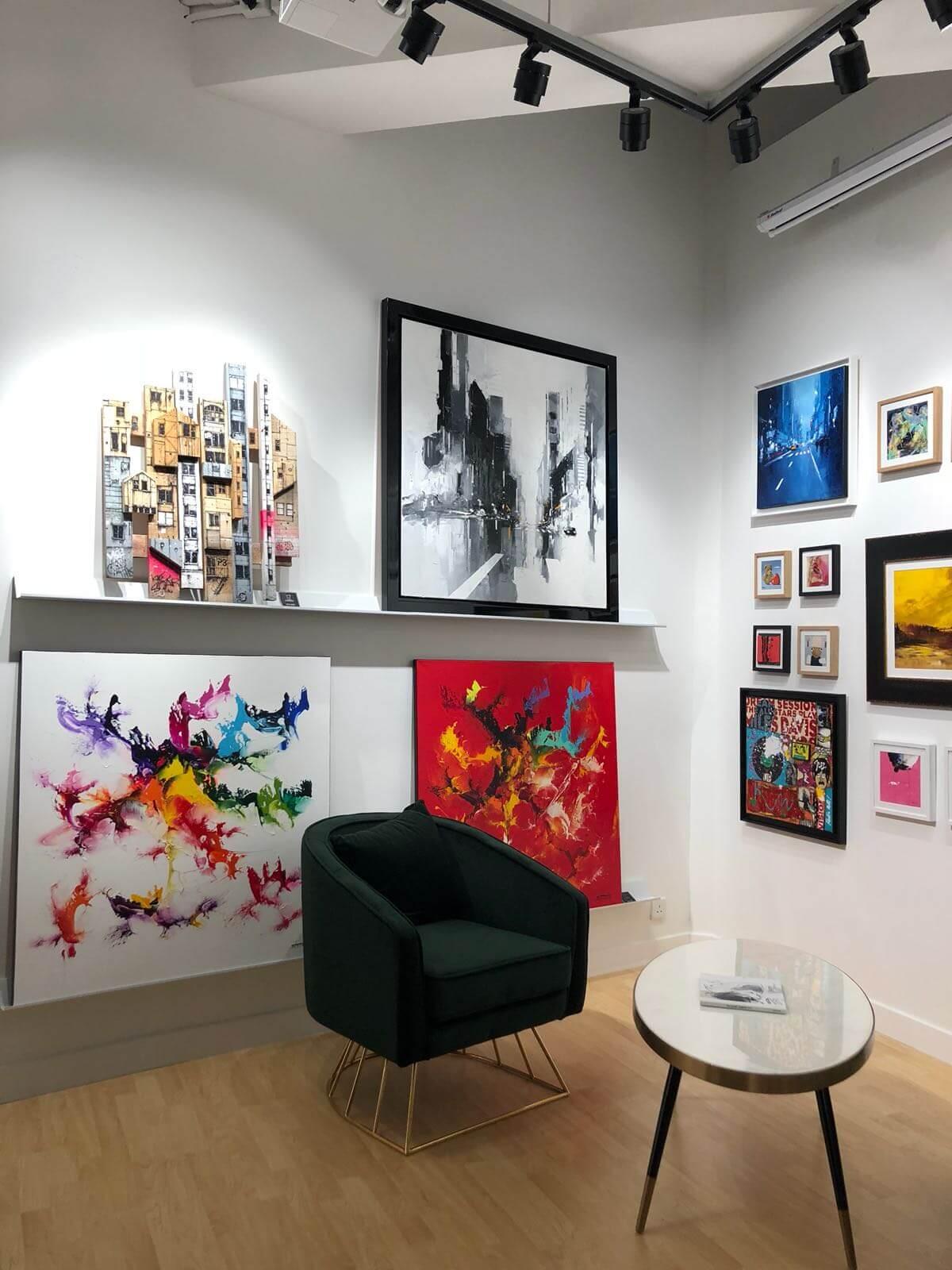 buy interior art in an artist's square art gallery
