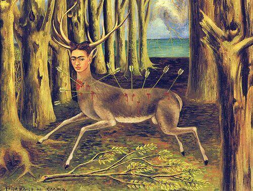 Le cerf blessé, 1946 frida kahlo