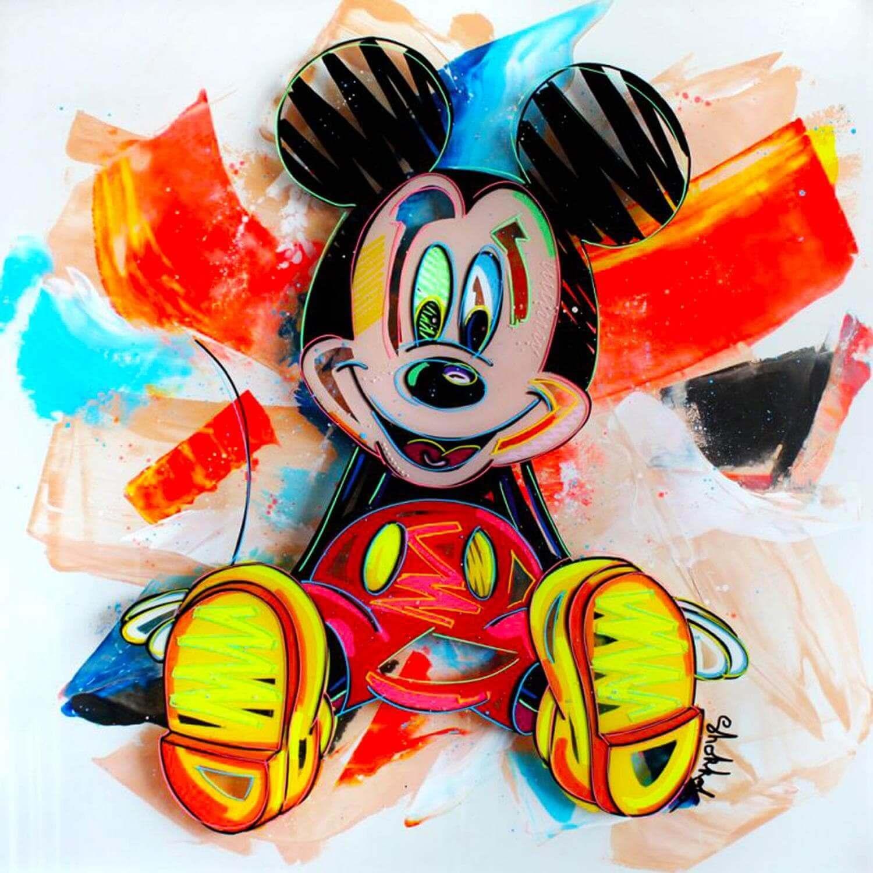 mickey par shokobo tableaux pop art