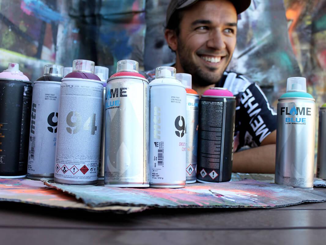 Pappay artiste contemporain de peintures street art chez carre d'artistes