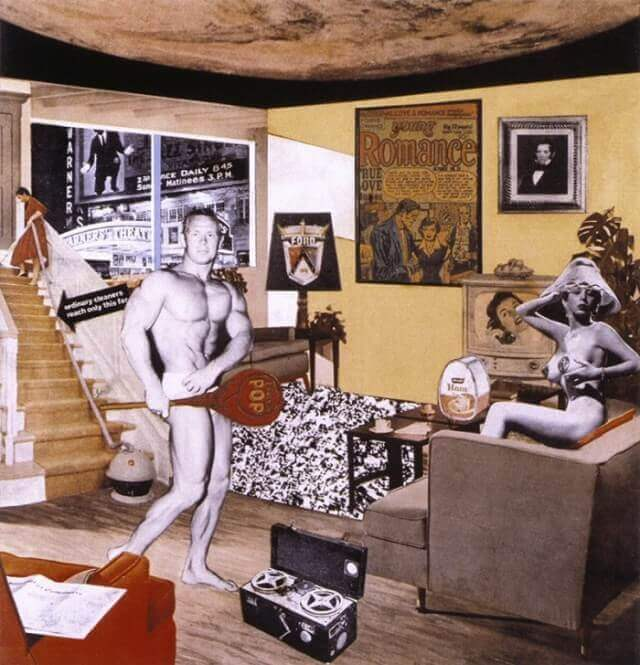tableau pop art just what is it that makes today's homes so different, so appealing ?, Richard Hamilton