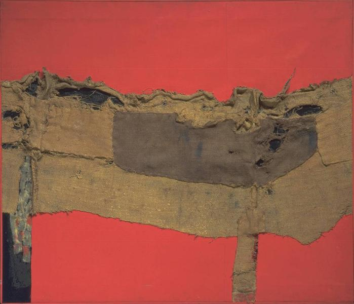 alberto burri sacking and ref picture its informel and abstract art