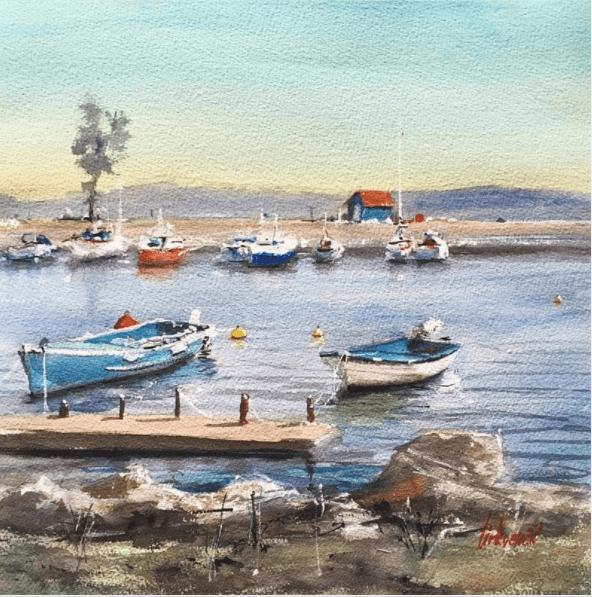 peinture marine par thomir artiste peintre chez carré d'artistes
